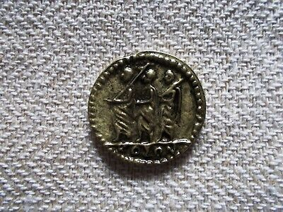 Antique Koson  After Roman Dacian Coin Commercial Reproduct From Romania Brass .