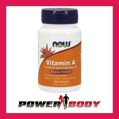 NOW Foods - Vitamin A, 10 000 IU - 100 softgels