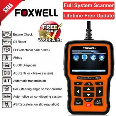 Foxwell NT510 For Kia Hyundai Full System ABS SRS Code Reader Scanner Tool Used
