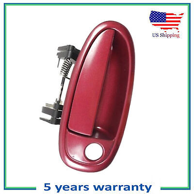 Front Pair Outside Door Handle For 95-99 Toyota Avalon Ruby Red 3L3 DS455