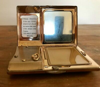 Vintage  Music Compact By Melissa Made In England With Photo Frame