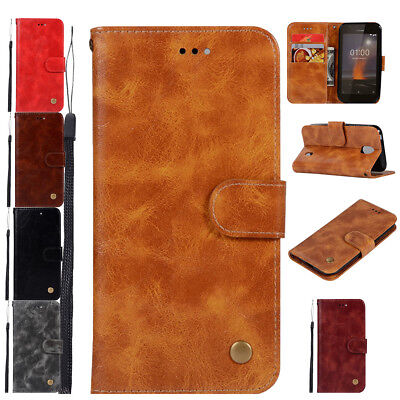 Magnetic Leather Card Slot Shockproof Protective Durable Walle Case for Nokia 1