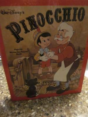 VINTAGE RARE Walt Disney's Pinocchio Pop Up Movie Go Round Book MINT!!