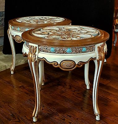 FINEST VTG FRENCH LOUIS PROVINCIAL GILT TABLE CARVED ACANTHUS LATTICE TOP 1 of 2