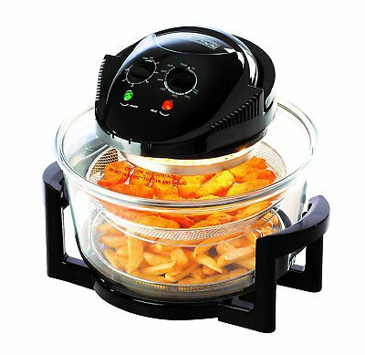 Daewoo Halogen Air Fryer Low Fat Fast Cook Healthy Oven 12L + 5L Capacity