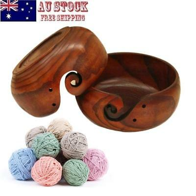 Wooden Yarn Bowl Holder Handcrafted Gift For Home Yarn Skeins Knitting Crochet