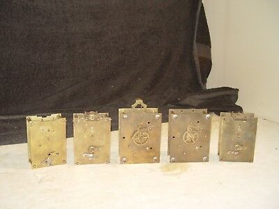 Antique Vintage Lot Assorted Carriage Clock Movement Works Parts For Refurbish