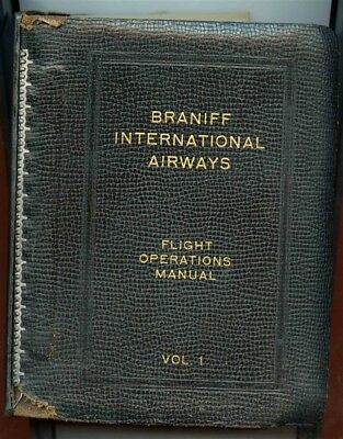 Braniff International Airways Domestic Flight Operations Manual Vol 1 Charts