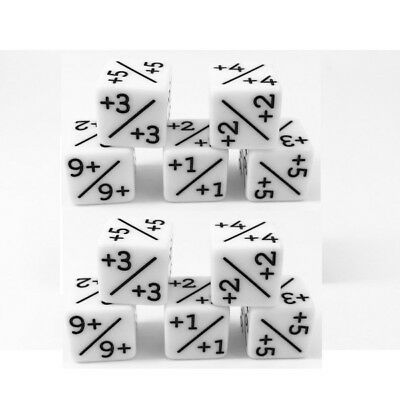10x Dice Counters White +1/+1 for Magic: The Gathering and other games / CCG MTG
