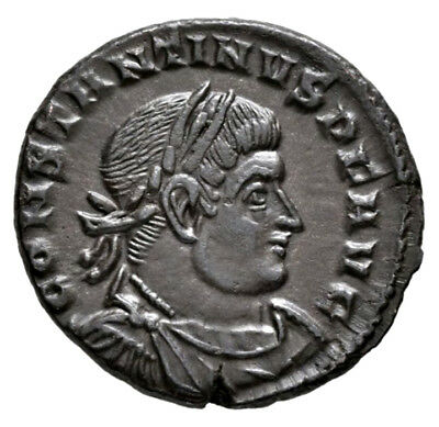 CONSTANTINE THE GREAT (316 AD) AE Follis, Trier Sol #MA 704