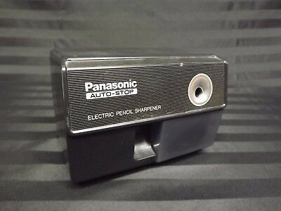 VTG Panasonic KP-110 Auto Stop Electric Pencil Sharpener Black Front Tested Work