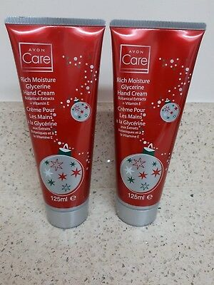 Avon Care Rich Moisture Glycerine Hand Cream x2 125ml - unused