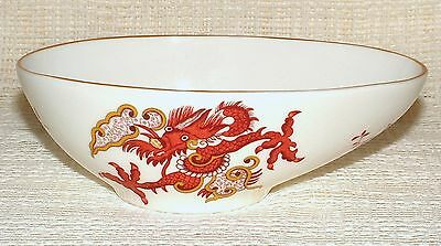 Crown Staffordshire RANGOON Dragon Pattern AVOCADO DISH Bowl