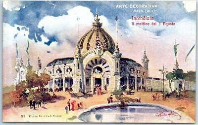 """1906 MILANO Italy Int'l Expo WF Postcard Artist-Signed """"Pilade Rocco"""" UNUSED"""
