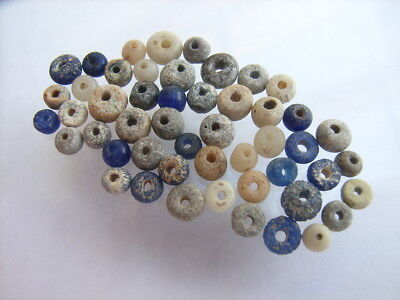 50 Ancient Roman Glass, Clay, Quartz Beads Romans VERY RARE!  TOP !!