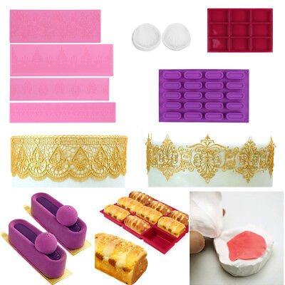 Multi-types Dessert Fondant Chocolate Candy Molds  Cookie Moulds Cake Bread Pan