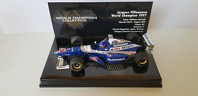 Minichamps 1:43 J.villeneuve  Williams  World Champion 1997  Mit Rothmans Decals