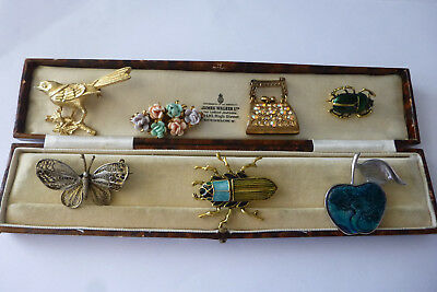 Vintage Jewellery Really Pretty Mixed Job Lot Of Brooches Pins Various Eras
