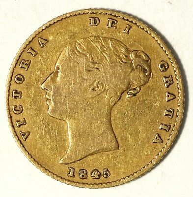 1845 Great Britain 1/2 Sovereign