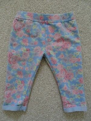 Baby Girl's Floral Jeggings from F&F at Tesco's Age 6-9 Months