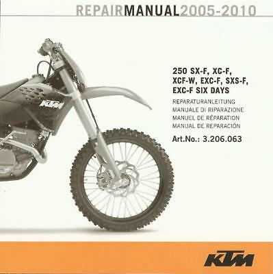 ktm repair manual 350 sx f xc f exc f xcf w six days 2011 2018 rh picclick com ktm 250 sxf 2008 repair manual 2010 KTM 250 SX-F Stock