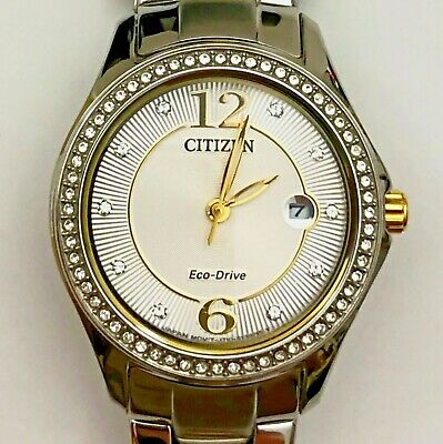 Citizen Eco-Drive Watch - Women's Two-Tone Silhouette Crystal Accents FE1144-77A