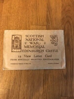Vintage Postcard Album Letter Card 12 View Scottish War Memorial