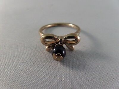 Gold Tone Bow Ring D6