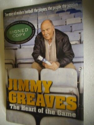 The Heart of the Game by Jimmy Greaves (Hardback, 2001)  SIGNED