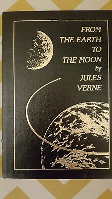 """FROM THE EARTH TO THE MOON"" by JULES VERNE, 1970 EASTON PRESS, COLLECTOR'S ED."
