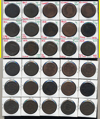Lot Of 30 Large Cents- Very Popular- No Reserve