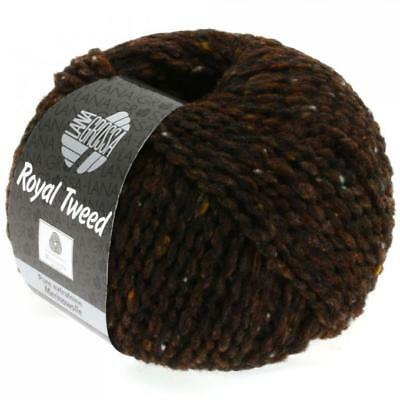 Wolle Kreativ! Lana Grossa - Royal Tweed - Fb. 9 dunkelbraun meliert 500 g