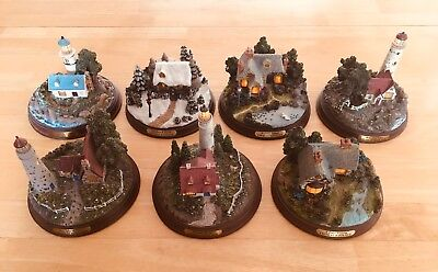 Thomas Kinkade Lighted Lighthouses / all 7 pieces = 1 lot