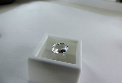 1.35ct Tenebrescent Scapolite Color Change Colorless to Blue Fluorescent-STRONG