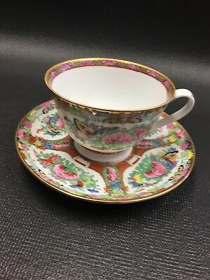JAPAN CHINA JAPANESE CHINESE ASIAN Antique Vintage Porcelain Tea Cup Saucer