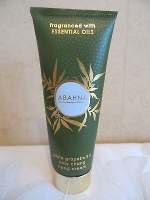 New Abahna White Grapefruit & May Chang Hand Cream Essential Oils