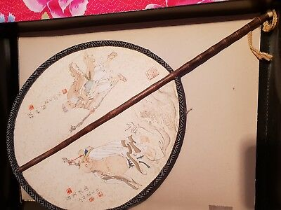 Very Old Decorative Chinese flat hand Fan