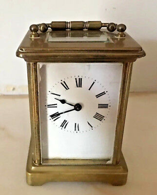 Antique French Brass Carriage Clock As Found