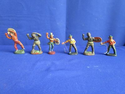 F7269) ur alt Original Masse Figuren:  Indianer, Cowboys usw.