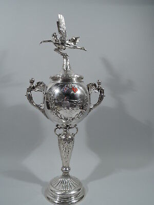 George V Trophy Cup - Art Deco Hydroplane Boat Race - English Sterling Silver