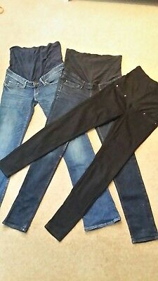 H&M over bump maternity jeans 8-10. Great condition.
