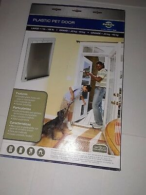 "Pet Dog Door Large Patio Door Pet Animal Flap Gate Magnetic 10 1/8""X16 1/4"" (F4)"