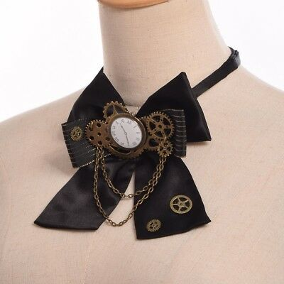 1pc Steampunk Gear Bowknot Bowtie Industrial Victorian Costume Accessory Lolita