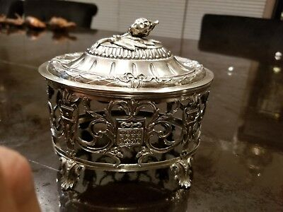 A LARGE SILVER  ETROG CONTAINER. France, 19th century. antique judaica