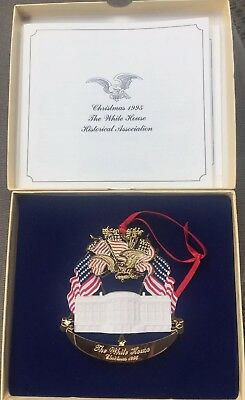 The White House Historical Association 1995 Christmas Ornament, Box & Pamphlet