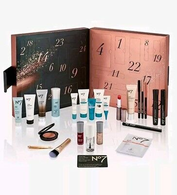 Boots No7 Beauty Advent Calendar 2018 Brand new Contents Worth £177. 3 day list.