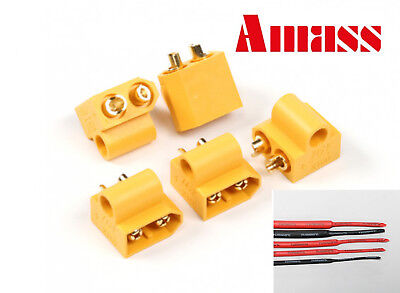 AMASS XT60 MALE 5mm Mounting Post Hole Connectors/Plugs (RC ESC/DRONE/HELI) - UK