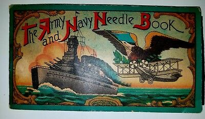 The Army and Navy Needle Book. Gorgeous color to graphics.  Vintage / antique