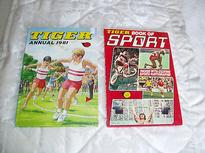Tiger annual/book 1981 and Tiger book of sport 1981