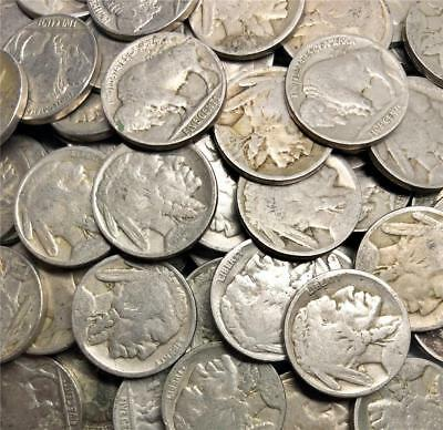 Buffalo Nickel-10 Coin Lot-10 Dateless Coins-PD&S Minted Coins- JBIN0010